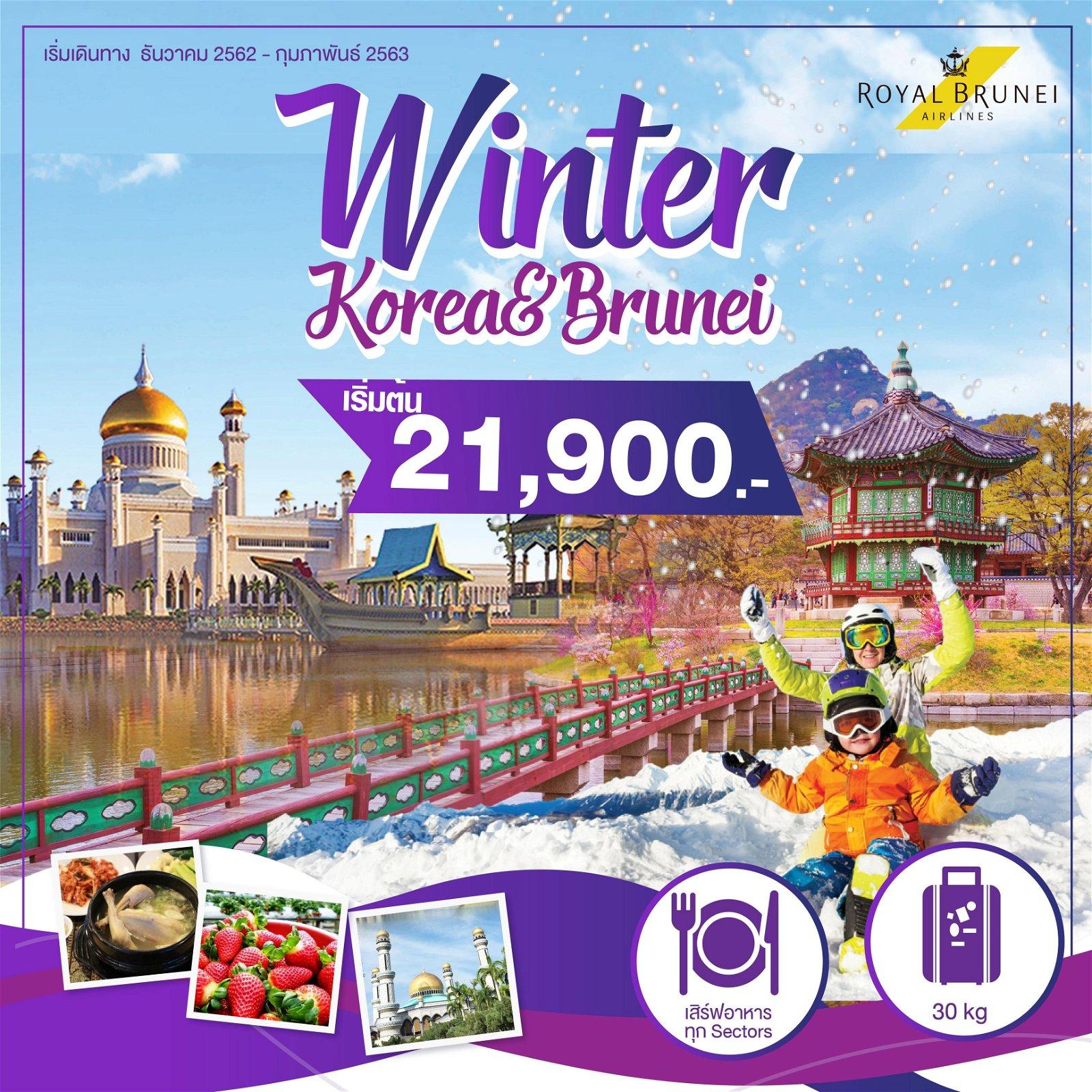 ทัวร์เกาหลี ฟรีบรูไน Winter Korae & Brunei